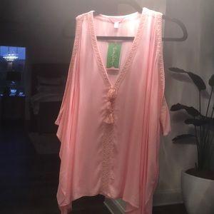 Lilly Pulitzer Pink Julietta top